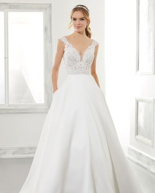 Adele 5867 Morilee wedding dress front