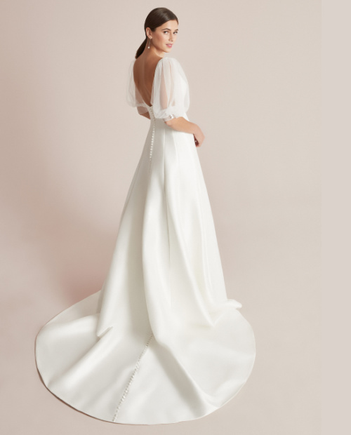 Callaghan 88201 justin alexander wedding dress side